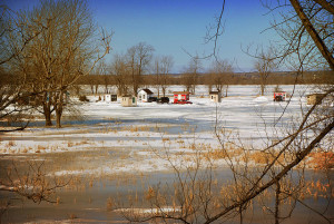 building ice fishing shelters